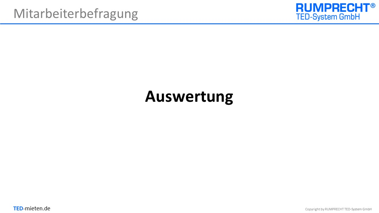 TED Auswertung
