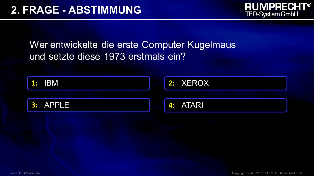 TED System QUIZ Frage